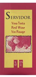 Вино красное полусладкое  «Servidor (Tetra Pak)»