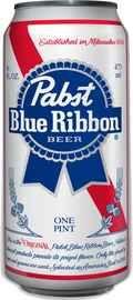 Пиво «Pabst blue ribbon» в жестяной банке