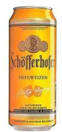 Пиво «Schofferhofer Hefeweizen» в жестяной банке