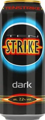 Напиток слабоалкогольный тонизирующий «Ten Strike Dark, 0.5 л»