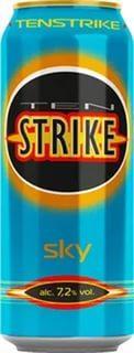 Напиток слабоалкогольный тонизирующий «Ten Strike Sky, 0.33 л»