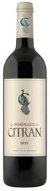 Вино красное сухое «Le Bordeaux de Citran Rouge» 2015 г.