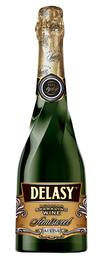 Российское шампанское белое полусладкое «Delasy»