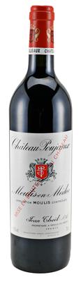 Вино красное сухое «Chateau Poujeaux» 2012 г.