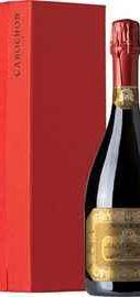 Вино игристое белое брют «Monte Rossa Cabochon Brut Millesime» в подарочной упаковке