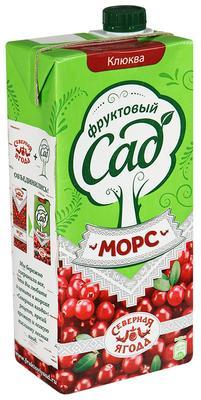 Сок «Морс Фруктовый Сад северная ягода клюква»