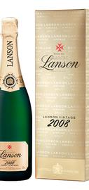 Шампанское белое брют «Lanson Gold Label Brut Vintage» 2008 г., в подарочной упаковке