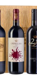 Вино красное сухое «Ornellaia» подарочный набор из 3-х бутылок