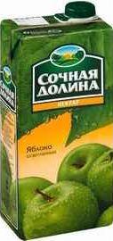 Сок «Сочная долина нектар яблоко»
