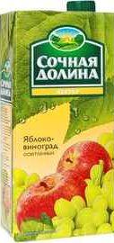 Сок «Сочная долина нектар яблоко виноград»