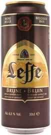 Пиво «Leffe Brune» в жестяной банке
