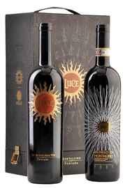 Вино красное сухое «Luce della Vite Toscana & Luce Brunello di Montalcino» 2011 г., 2013 г., подарочный набор из 2-х бутылок