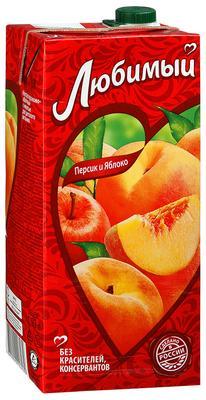Сок «Любимый Яблоко-Персик, 1 л»