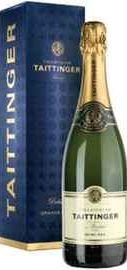 Шампанское белое полусухое «Taittinger Demi-Sec» в подарочной упаковке