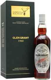 Виски шотландский «Glen Grant» 1960 г. в подарочной упаковке