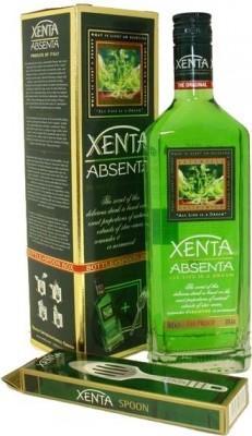 Абсент «Xenta» в подарочной упаковке с ложкой