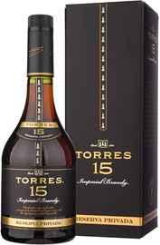 Бренди «Torres 15 Reserva Privada» в подарочной упаковке