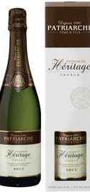 Вино игристое белое брют «Patriarche Heritage Brut» в подарочной упаковке