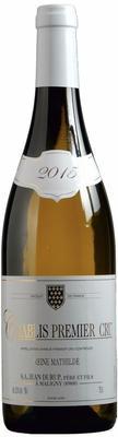 Вино белое сухое «Jean Durup Reine Mathilde Chablis 1er Cru» 2015 г.