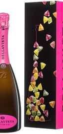 Вино игристое белое полусухое  «Bellavista Franciacorta Nectar S.A.» в подарочной упаковке