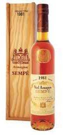 Арманьяк «Armagnac Sempe» 1981 г. в подарочной упаковке