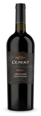 Вино красное сухое «Амурский Потапенко» вино с защищенным географическим указанием КубаньТаманский полуостров