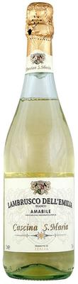 Вино игристое белое полусладкое  «Cascina S. Maria Bianco Amabile Lambrusco dell'Emilia, 1.5 л»