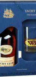 Виски шотландский «Yacht Club» в подарочной упаковке со стаканом
