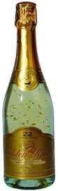 Вино игристое белое полусладкое «Golden Kiss» с включением блесток из золота