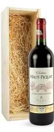 Вино красное сухое «Chateau Haut Piquat» 2003 г., в деревянной подарочной упаковке