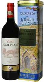 Вино красное сухое «Chateau Haut Piquat» 2005 г., в металлической тубе