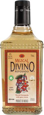 Текила «Divino Mezcal Reposado with the caterpillar, 0.05 л»
