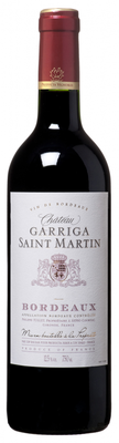 Вино красное сухое «Chateau Garriga Saint Martin Bordeaux» 2015 г.