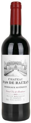 Вино красное сухое «Chateau Pas de Rauzan Bordeaux Superieur»