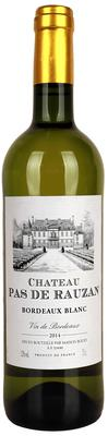 Вино белое сухое «Chateau Pas de Rauzan Bordeaux Blanc»