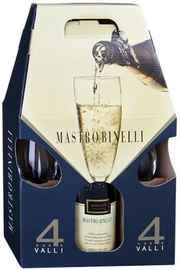 Вино игристое красное полусладкое «Mastro Binelli Croatina» в подарочной упаковке с 2-мя бокалами