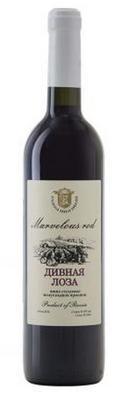 Вино столовое красное полусладкое «Дивная Лоза Классика»