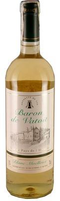 Вино столовое белое полусладкое «Baron de Vatoit»