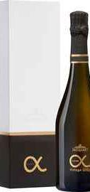 Шампанское белое брют «Champagne Jacquart Cuvee Alpha Vintage» 2010 г., в подарочной упаковке