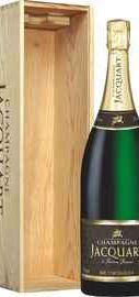 Шампанское белое брют «Champagne Jacquart Brut Mosaique» в деревянной подарочной упаковке