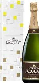Шампанское белое брют «Champagne Jacquart Brut Mosaique Magnum» в подарочной упаковке