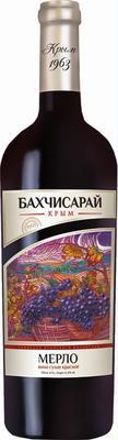 Вино столовое красное сухое «Бахчисарай Мерло» Крым 1963
