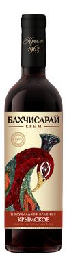 Вино столовое красное полусладкое «Крымское»