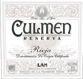 Вино красное сухое «LAN Culmen Reserva» 2010 г.
