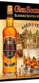 Виски шотландский «Glen Scanlan 5 Years Old» в подарочной упаковке + 1 стакан