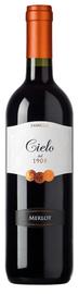 Вино красное полусухое «Cielo e Terra Merlot» 2016 г.