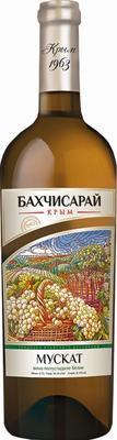 Вино столовое белое полусладкое «Мускат Бахчисарай»