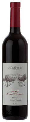 Вино красное сухое «Carmel Shiraz Kayoumi Vineyard» 2012 г.