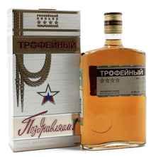 Коньяк российский «Трофейный» в подарочной упаковке
