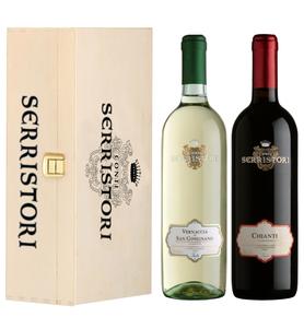 Вино «Conti Serristori» набор из 2-х бутылок в подарочной упаковке